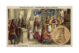 Coronation of Charlemagne as Emperor, Rome, 800 Giclee Print