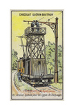 Mobile Platform for Repairing Overhead Power Lines on Tramways Giclee Print