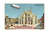 Above the Piazza Del Duomo, Milan Giclee Print