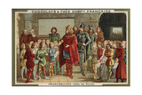 Charlemagne Visiting a School Giclee Print