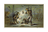 Divers Working by Electric Light Giclee Print