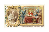 Pope Pius V in His Library, 16th Century Giclee Print