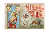 St Hubert, Patron Saint of Hunters Giclee Print
