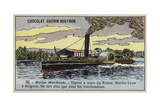 Cargo Paddle Steamer on the Rhone, France Giclee Print