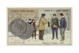 Silver 5 Franc Piece, 1870 Giclee Print