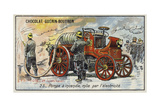 Electrically-Powered Fire Engine Giclee Print