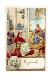 Raphael and Pope Julius II Giclee Print