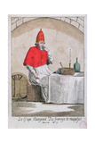 The Pope Eating Roquefort Cheese, 1791 Giclee Print