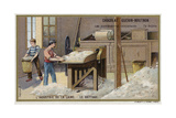 Wool Industry, Threshing Giclee Print