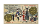 Gold 40 Franc Piece of Charles X, 1829 Giclee Print