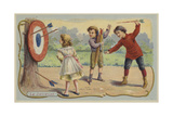 Throwing Arrows at a Target Giclee Print