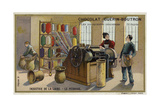 Wool Industry, Combing Giclee Print