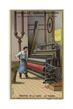 Wool Industry, Weaving Giclee Print