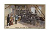 Wool Industry, Washing Giclee Print