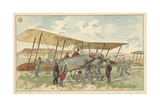 French Military Biplane Giclee Print