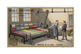 Wool Industry, Spinning Giclee Print