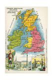 The British Isles Giclee Print