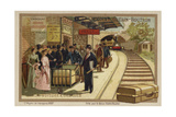 Baggage Cart Giclee Print