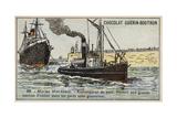 Harbour Tug Giclee Print