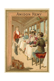 In the Dining Car Giclee Print