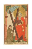 St. Andrew with a Monk, C.1500 Giclee Print
