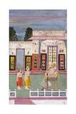 Maharaja Sawai Jai Singh Greeted by Two Crowned Men, C.1735 Giclee Print
