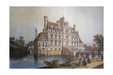 Chateau De Beaumesnil, Normandy, Colour Print, France, 19th Century Giclee Print