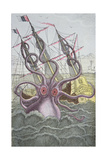 The Kraken Drags Down a Ship Giclee Print