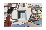 Emigration, Mural in Villamar, Sardinia, Italy Giclee Print