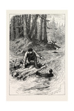 Washington Crossing the Alleghany, North America, USA, 1870S Giclee Print