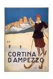 Cortina D'Ampezzo Poster, C.1920 Gicléetryck