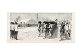 The Italian Occupation of Massowah, Red Sea, Hoisting the Italian Flag Giclée-tryk