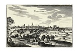 France, View of Montpellier, German, 1660 Giclee Print