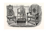 Anne Boleyn's Chair; Shakespeare's Chair; Theodore Hook's Chair, UK Giclee Print
