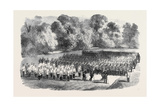 The Oxfordshire Militia in the Garden of St. John's College Oxford Giclee Print