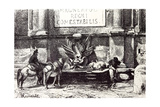 Rome Italy 1875 Fountain at the Villa of Pope Julius III Giclee Print