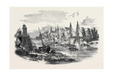 Remains of the Suspension Bridge at Angers, after the Late Accident Giclee Print