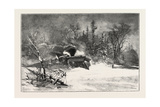 Triumph of the Snow-Plough, Canada, Nineteenth Century Giclee Print