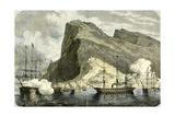 Gibraltar 1864 Arrival of the S.M. Maximilien Gibraltar Giclee Print