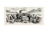 Going Home by Water: on Board a Seine Steamboat, France Giclee Print