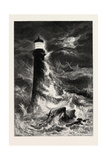 Eddystone Lighthouse, the South Coast, UK, 19th Century Giclee Print