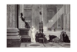 Rome, Italy, 1875, the Pope at the Feet of St. Peter Giclee Print