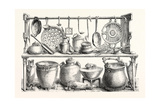 Cooking Utensils from Pompeii in the Museum at Naples Giclee Print