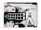 Untitled (Samo, New York) Giclée-tryk af Jean-Michel Basquiat