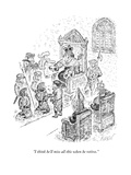 """I think he'll miss all this when he retires."" - New Yorker Cartoon Premium Giclee Print by Edward Koren"