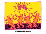 Keith Haring - Untitled Pop Art Digitálně vytištěná reprodukce