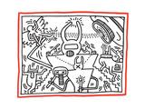 Untitled Pop Art Giclée-tryk af Keith Haring