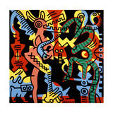 Untitled Pop Art Gicléetryck av Keith Haring