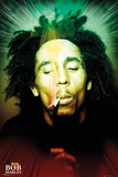 Bob Marley Smoking Portrait Print