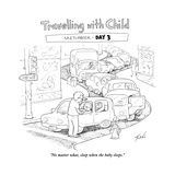 Traveling with Child - Day 3 - Cartoon Premium Giclee Print by Tom Toro